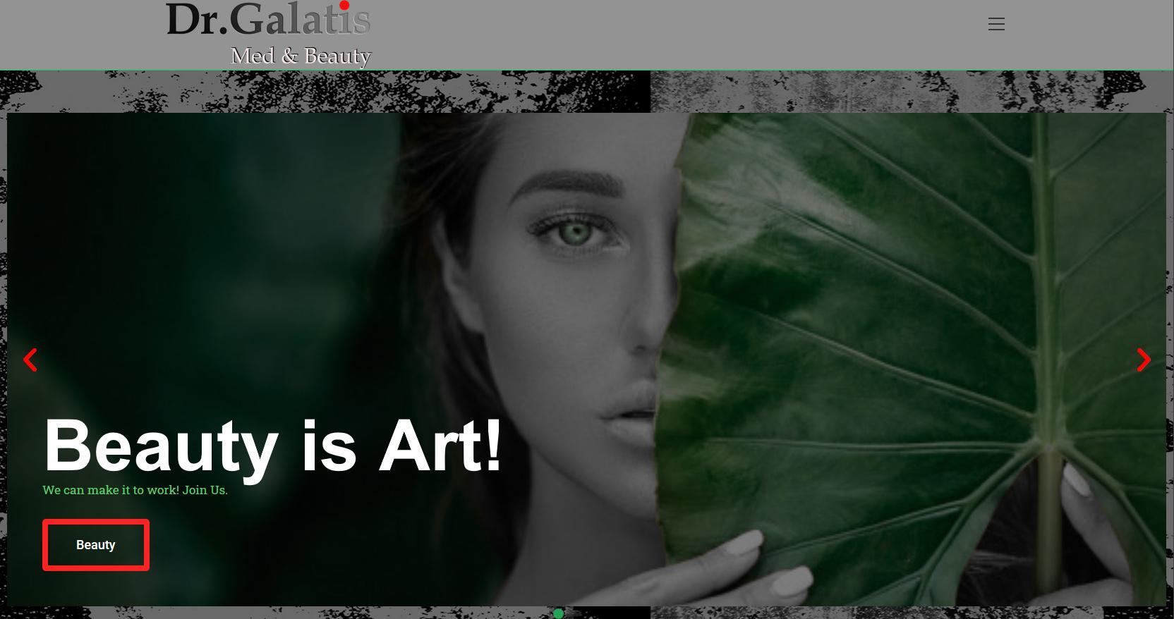 Galatisbeauty Frontpage image